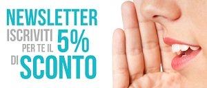 Buono Sconto del 5% sul tuo prossimo acquisto!