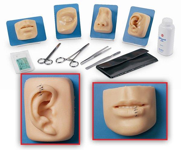 Kit simulazione sutura ferite volto