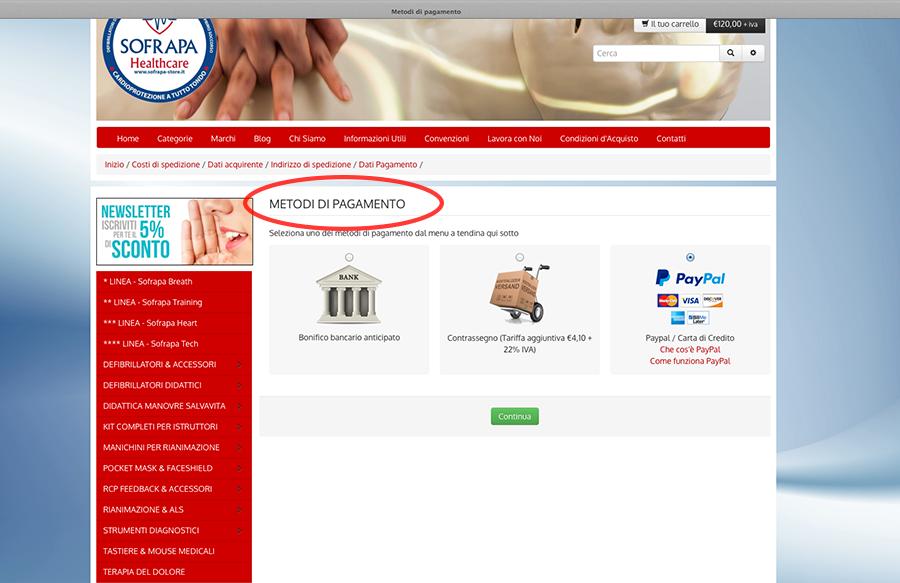 Metodo di pagamento step 7