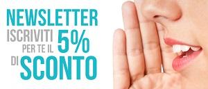 Sconto 5% per i NUOVI Iscritti!