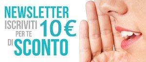 Iscriviti Subito per avere un Coupon Sconto da 10 euro!