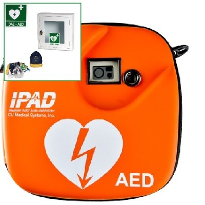 IPAD STARTER KIT - Defibrillatore DAE adulto/pediatrico Cu Medical iPad Cu-Sp1 completo di Armadietto per interni e Accessori